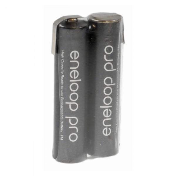 eneloop Akkupack 2,4V / 900mAh - F1x2 Reihe mit LF Eneloop Pro Ni-MH 1,2 V/900mAh