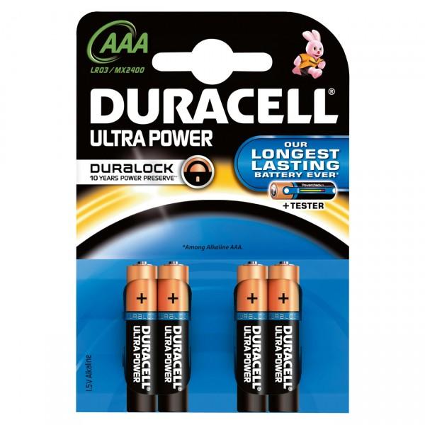 4er Blister Duracell MN2400 1,5V Ultra Power Micro Batterie - 1,5 Volt AAA Alkaline