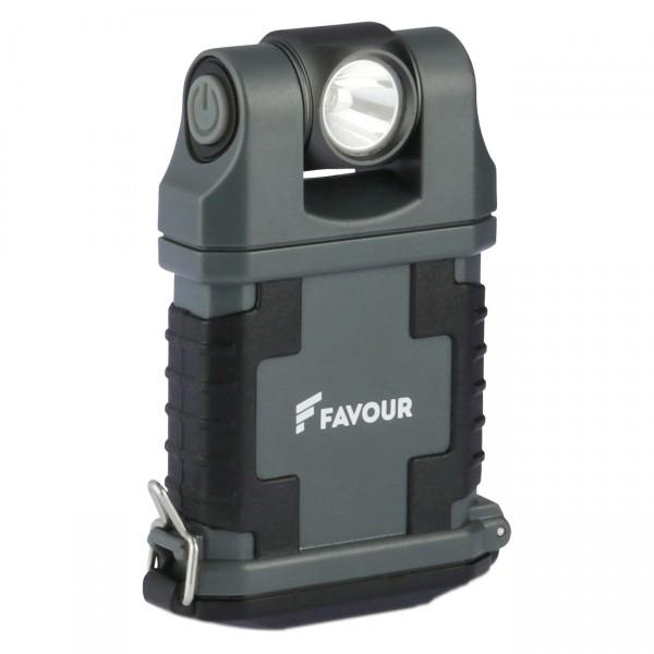 Favour Worklight - EDCLIP T2342 - Taschenlampe inkl. 4x AAA Alkaline Batterien