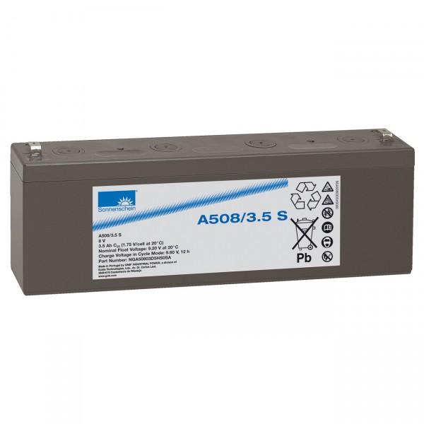Sonnenschein Dryfit Blei-Akku - A508/3,5S - 8V / 3500mAh / Pb - Blei Akku mit Faston 4,8mm Anschluss