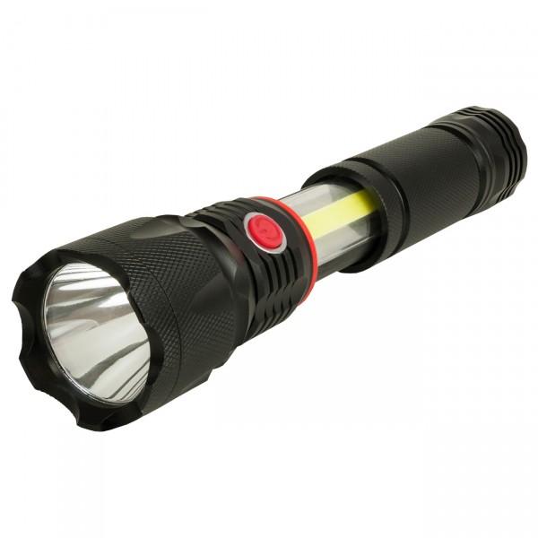 Arcas 3 in 1 LED Taschenlampe - Leuchte Front / Leuchte seitlich / rotes Blinken seitlich
