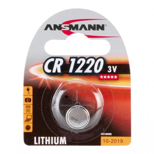 Ansmann Lithium-Knopfzelle CR1220 Lithium 3V / 38mAh