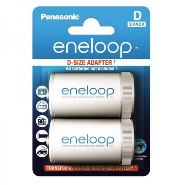 Panasonic eneloop Mono D Adapter BQ-BS1E/2E von AA auf D -2er Blister-