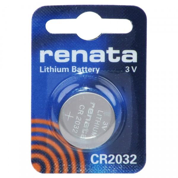 1er Blister Renata Lithium-Knopfzelle CR2032 - 3V / 225mAh - 3 Volt Lithium CR 2032 Batterie