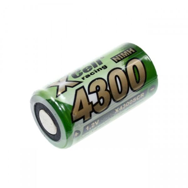 XCell Sub C Akku - 1,2V / 4300mAh / NIMH - SC4300 Hochstromakku für Industrie