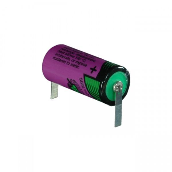 Tadiran Lithium 2/3AA Batterie - SL 761/T - 3,6V / 1500mAh / LiSOCI2 - mit Lötfahnen U-Form