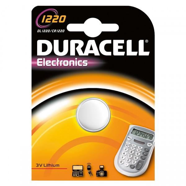 1er Blister Duracell Lithium-Knopfzelle CR1220 - 3V / 35mAh - 3 Volt Lithium CR 1220 Batterie