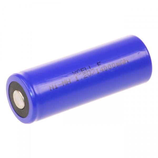 XCell Akku 3/2 D X14000F-I - 1,2V / 14000mAh / NIMH - für Hochstrom und Industrie