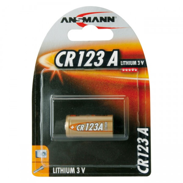 1er Blister Ansmann Photobatterie CR123A Lithium - 3V / 1450mAh