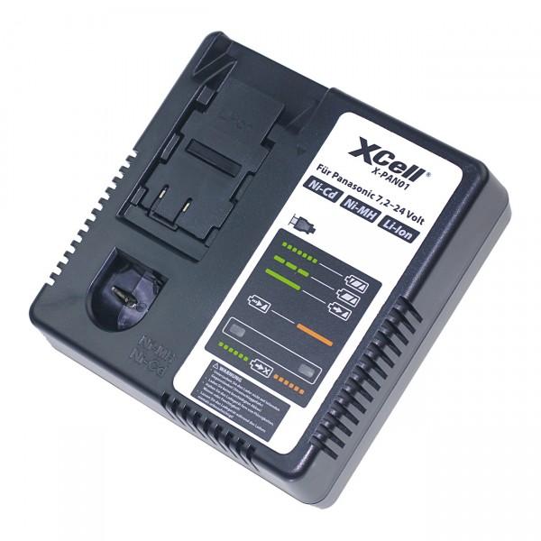 XCell Ladegerät für Panasonic 7,2-24V Ni-Cd/Ni-MH/Li-Ion Werkzeugakkus X-PAN01