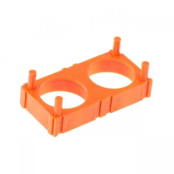 HEADWAY 2-fach Zellenhalter für 38120 orange Plastik-Halter für 2 x 38120