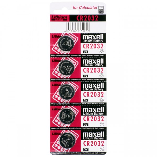 Maxell Lithium Knopfzelle CR2032 - 3V / 210mAh - Power Batterie