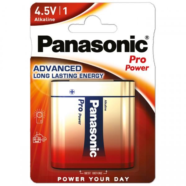 1er Blister Panasonic Pro Power Alkaline Flachbatterie - 4,5V / AlMn Batterie flach