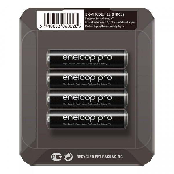 eneloop pro Micro Akku BK-4HCDE/4LE Ni-MH 1,2V / 930mAh 4er Storage Case