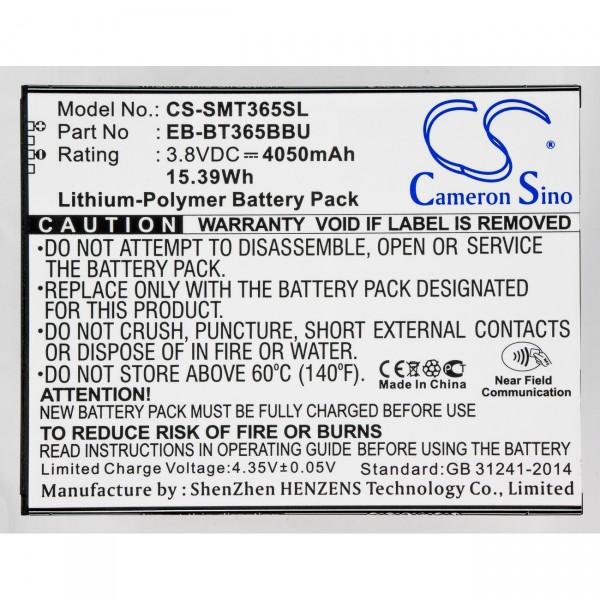 Akku für Samsung Galaxy Tab Active SM-T390N ; EB-BT365BBC