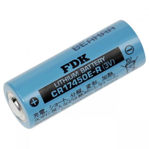 FDK Lithium 3V Batterie CR 17450ER A - 3 Volt / 2400mAh - Hochstromzelle für hohe Temaparaturen