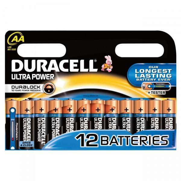 12er Blister Duracell MN1500 Ultra Power 1,5V Mignon Alkaline Batterie - 1,5 Volt AA Batterie