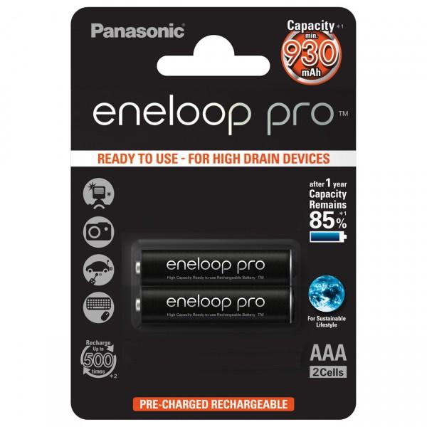 2er Blister Panasonic eneloop Pro AAA Micro Akku - 1,2V / 950mAh / NIMH