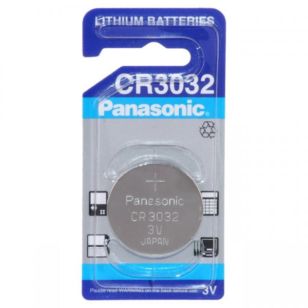 1er Blister Panasonic Lithium-Knopfzelle CR3032 - 3V / 500mAh - 3 Volt Lithium CR 3032 Batterie