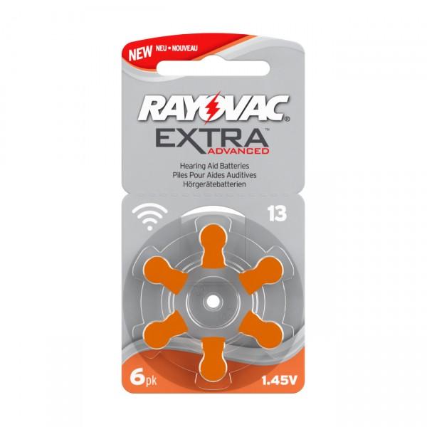6er Rad Rayovac Extra Advanced Batterie 13AE - 1,45 V / 310mAh / Ultra Zinc Air Hörgerätebatterie
