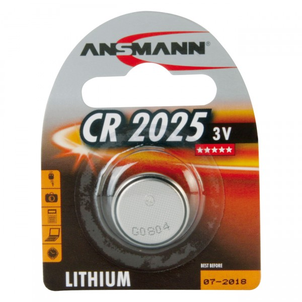 Ansmann Knopfzelle CR2025 - 3V / 150mAh - Lithium Batterie