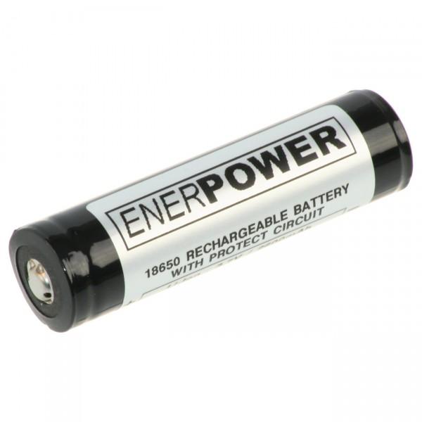 Enerpower 18650 Li-Ion Akku - 3,6V / 2600mAh - 18650 Akkus inkl. PCM Schutz für Taschenlampen