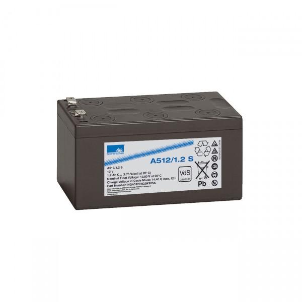 Sonnenschein Dryfit Blei-Akku A512/1.2S - 12V / 12Ah - Faston 4,8mm / Blei Akku mit VdS Zulassung