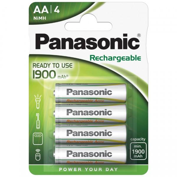 4er Blister Panasonic Ready to Use Mignon - 1,2V / 1900mAh / NIMH - 1,2 Volt AA Ni-Mh Akkus