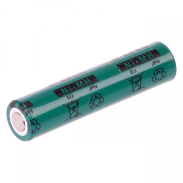 FDK Micro AAA Akku - HR-AAAU - 1,2V / 730mAh / NIMH - 1,2 Volt Ni-Mh - flattop