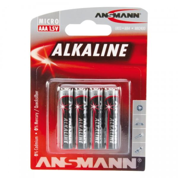 Ansmann LR03 Red Alkaline Micro Batterie 4er Blister