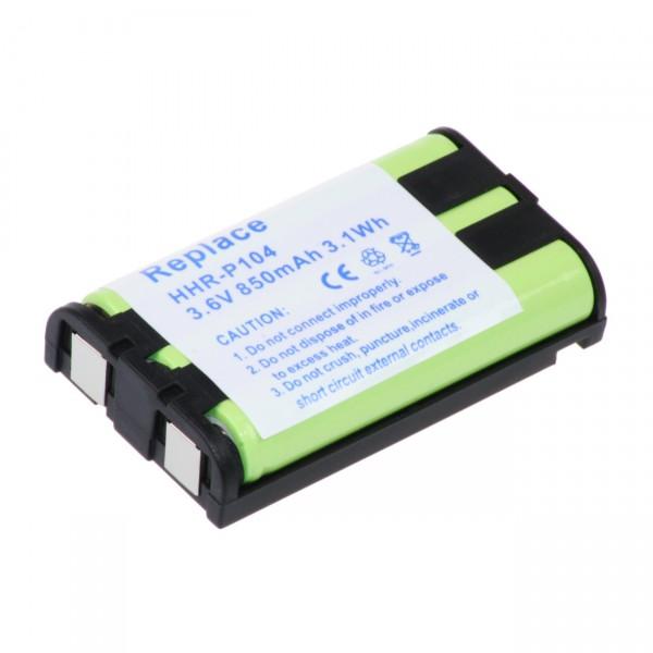 Telefonakku - HHR-P104 - 3,6V / 850mAh / NIMH - 3,6 Volt Ni-Mh Telefon Akku für Panasonic