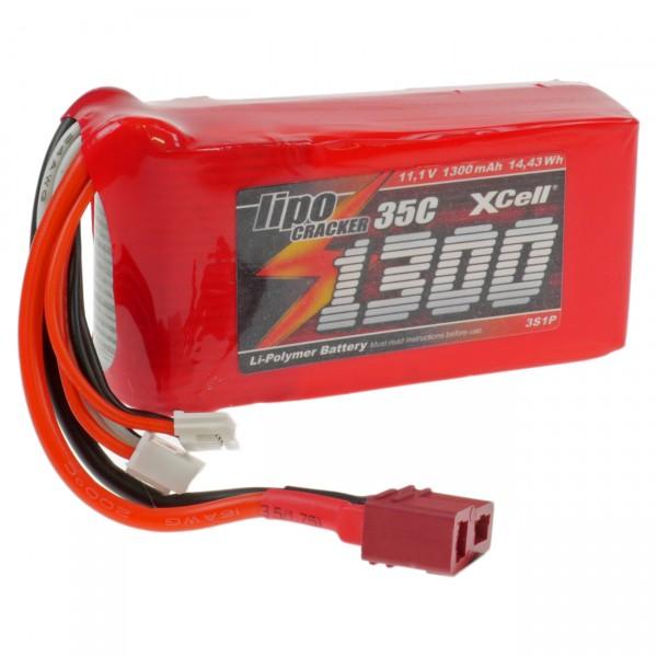 XCell LiPo Cracker - 3S1P - 11,1V / 1300mAh / Li-Poly - T-Buchse / EHR- XH- T-Buchse