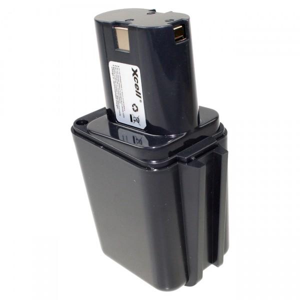 XCell Werkzeug Akku für Bosch 2607300002 - 9,6V / 3000mAh / NIMH - 9,6 Volt PREMIUM Werkzeugakku