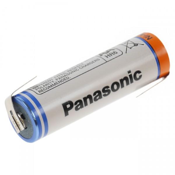 Panasonic Mignon Akku BK-3HGAE/BF1 Ni-MH 1,2V / 2700mAh + Lötfahne Z-Form