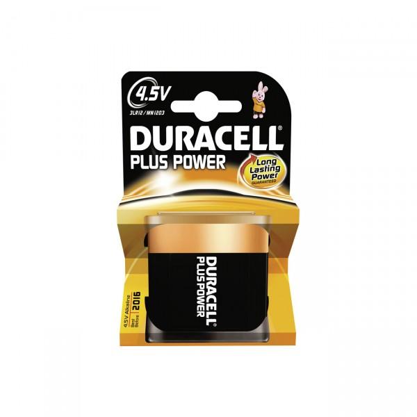 1er Blister Duracell MN1203 Plus Power Flachbatterie - 4,5 Volt / AlMn / 3LR12 Flach Batterie