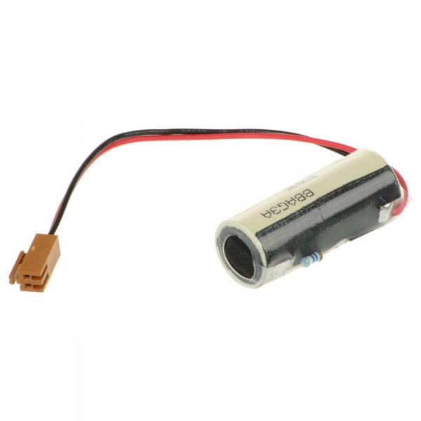 FDK Lithium 3V Batterie CR 17450SE A - Zelle + L9540 + Widerstand 390 Ohm
