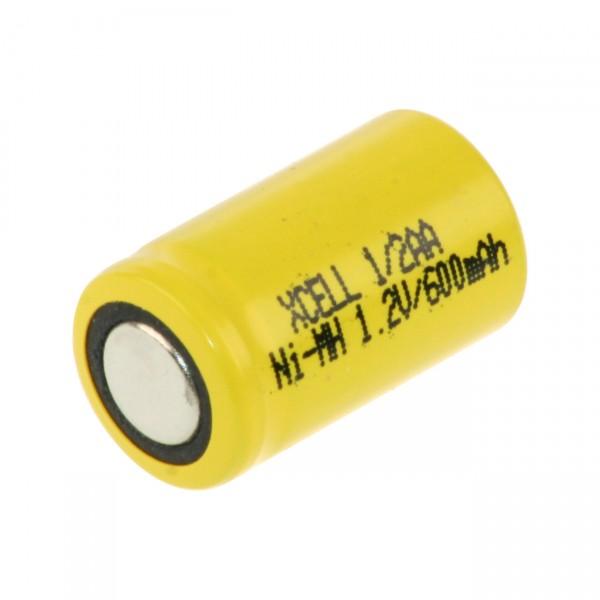 Xcell 1/2 AA Akku - X1/2AA600 - 1,2V / 600mAh / NIMH - 1,2 Volt Ni-Mh 1/2 Mignon Industrie Akku