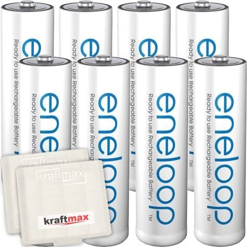 8er Pack Panasonic Eneloop AA/Mignon Akkus - Neueste Generation - Hochleistungs Akku Batterien in Kr