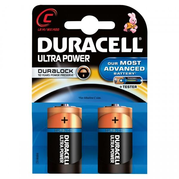 2er Blister Duracell MN1400 Ultra Power 1,5V Alkaline Baby C - 1,5 Volt Batterie