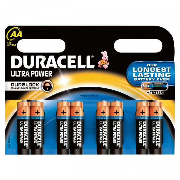 Duracell MN1500 Ultra Power Mignon Batterie mit Powercheck 8er Blister
