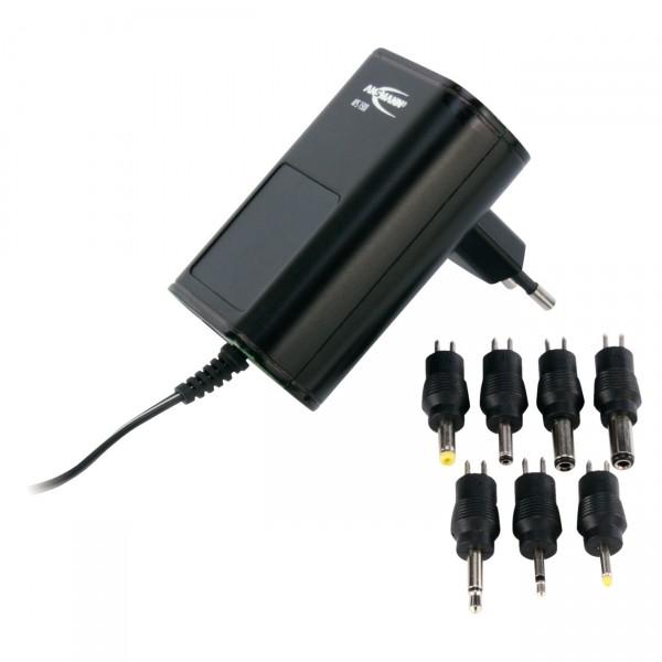 Ansmann APS 1500 Steckernetzgerät 3-12V - Universal Ladegerät / Stecker Netzteil inkl. 7 Adapter
