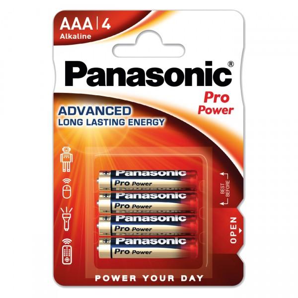 4er Blister - Panasonic Pro Power LR03PPG Batterien - 1,5V Micro AAA Alkaline