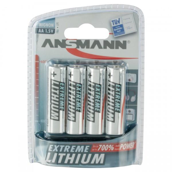 Ansmann LR06 Extreme Lithium Mignon Batterie 4er Blister
