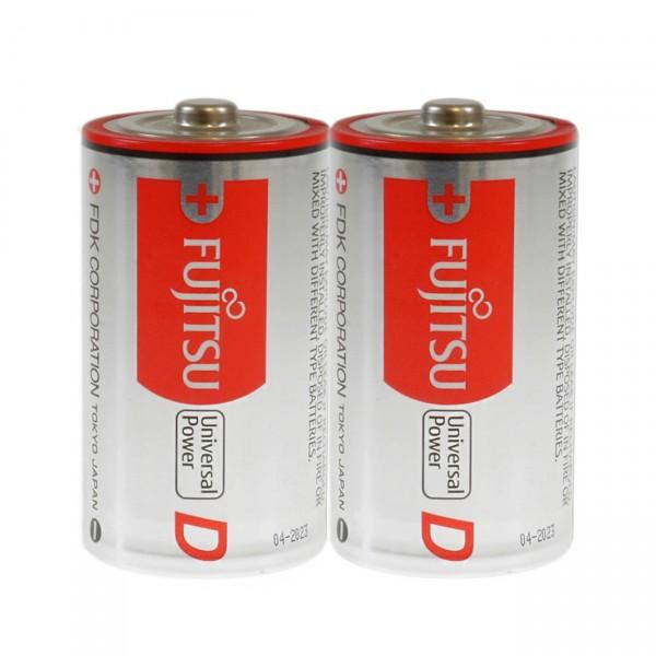 2er Blister Fujitsu LR20 Alkaline Universal Power Mono D Batterie - 1,5V / 15000mAh
