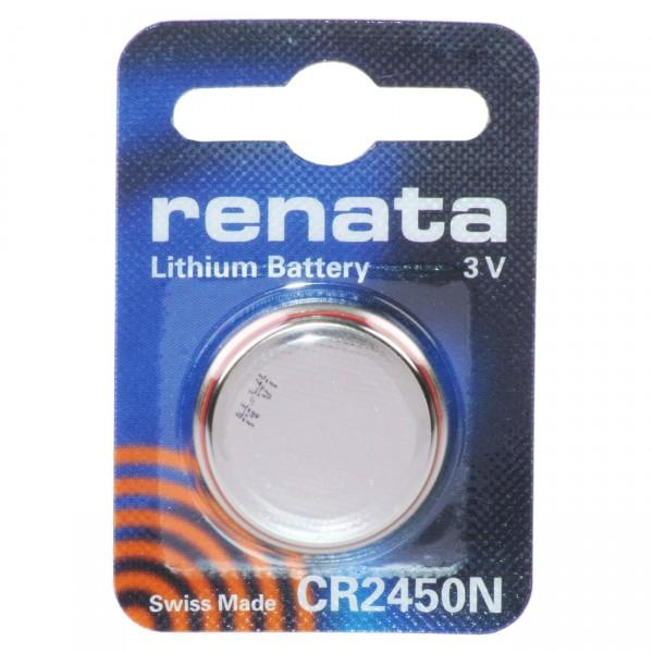 1er Blister Renata Lithium - Knopfzelle CR2450N - 3V / 540mAh - 3 Volt CR 2450 Batterie