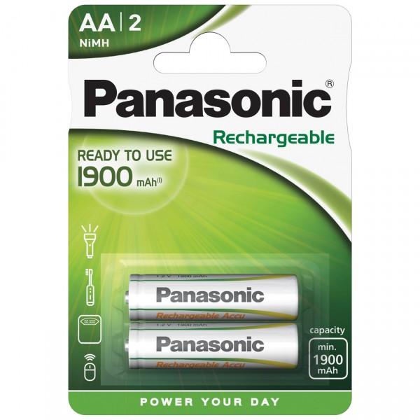 2er Blister Panasonic Ready to Use Mignon - 1,2V / 1900mAh / NIMH - 1,2 Volt AA Ni-Mh Akkus