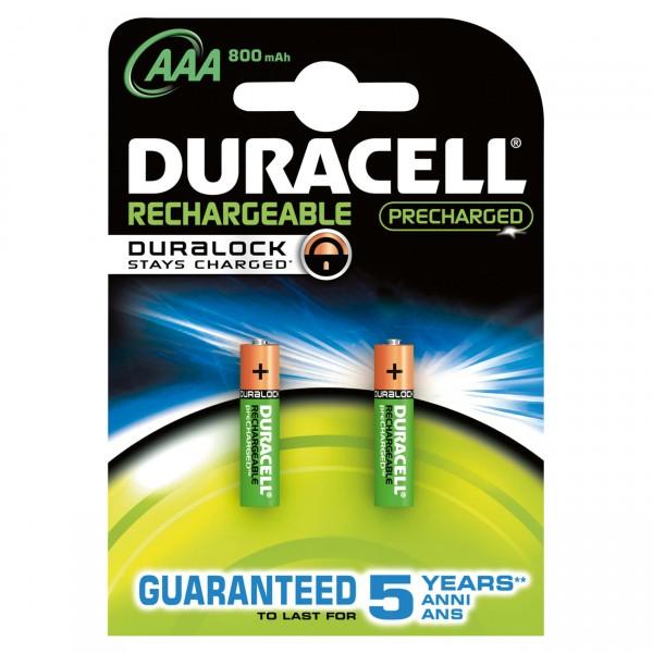 2er Blister Duracell PreCharged Micro Akku - 1,2V / 900mAh / NIMH - 1,2 Volt AAA Ni-MH