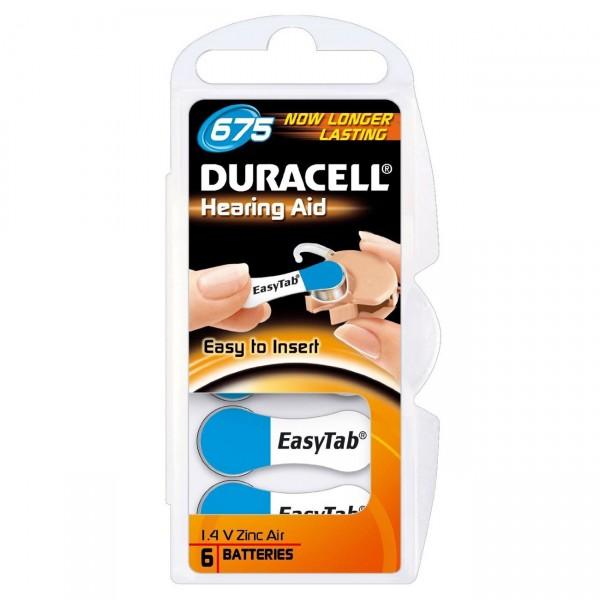 Duracell Hörgerätebatterie Activair 675 Zinc Air, 6er Rad
