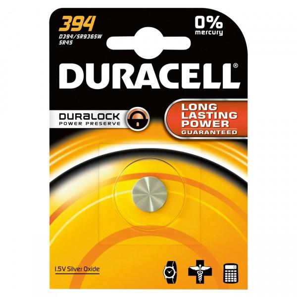 Duracell Uhrenbatterie D394 AgO 1,55V / 84mAh 1er Blister