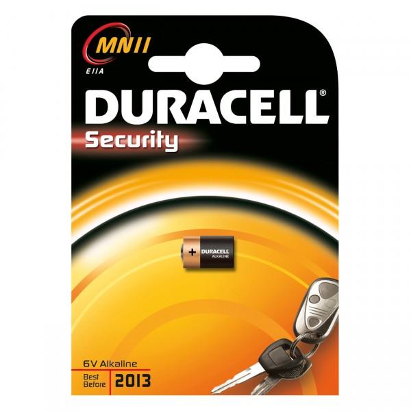 1er Blister Duracell Alkaline-Knopfzelle MN11 - 6V / 38mAh - 6 Volt Alkali MN 11 Batterie